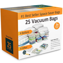 Load image into Gallery viewer, Exclusive everyday home 83 79 vacuum storage bags space saving air tight compression shrink down closet clutter store and organize clothes linens seasonal items 25