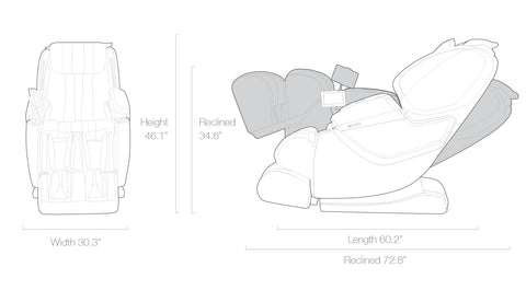Technical Specs for Cozzia Zen SE Massage Chair