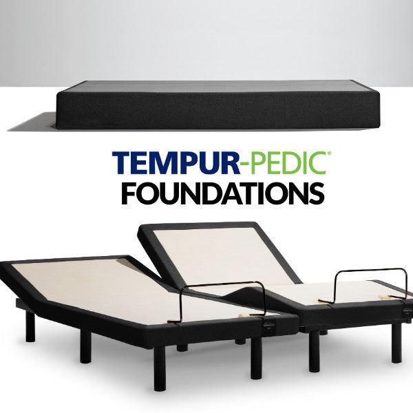 Tempurpedic flat and adjustable foundations at Sleep First