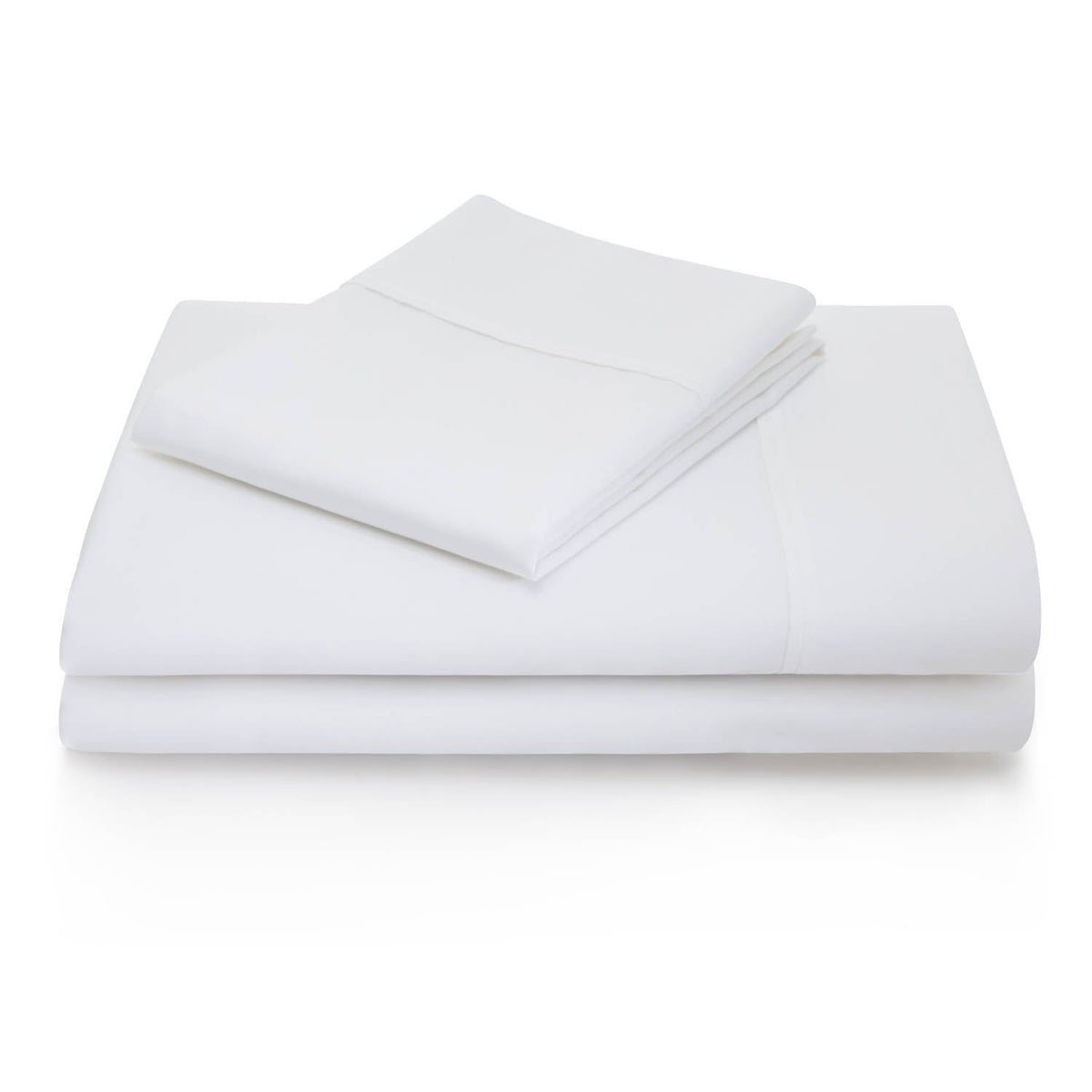 WOVEN 600 Thread Count Cotton Blend Sheet Set Sheet Set Malouf Twin White