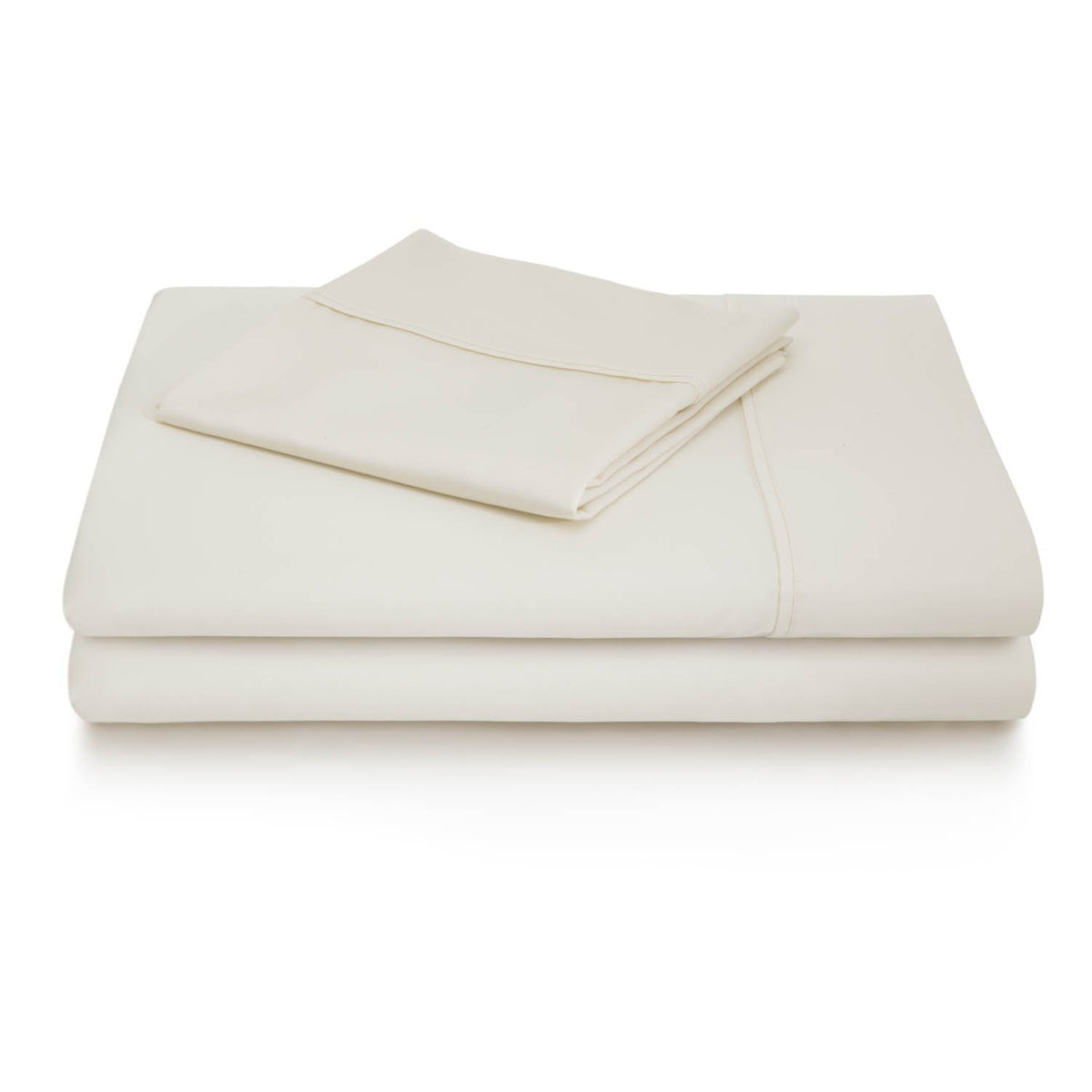 WOVEN 600 Thread Count Cotton Blend Sheet Set Sheet Set Malouf Twin Ivory