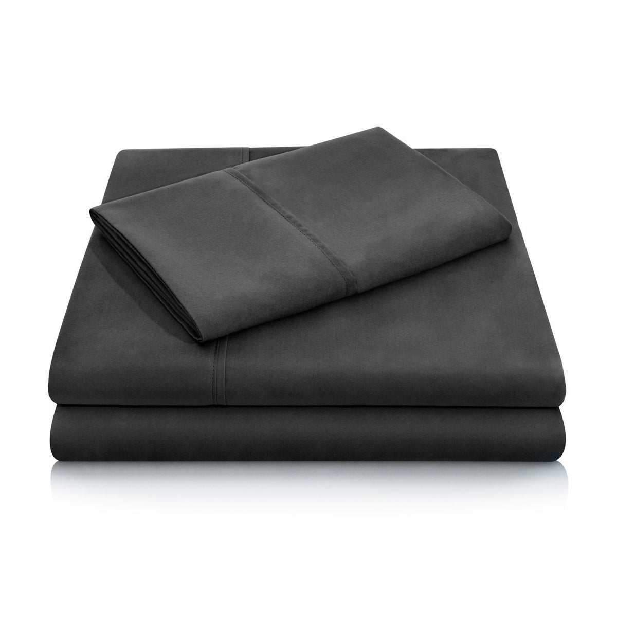 WOVEN Brushed Microfiber Sheet Set Sheet Set Malouf Twin Black