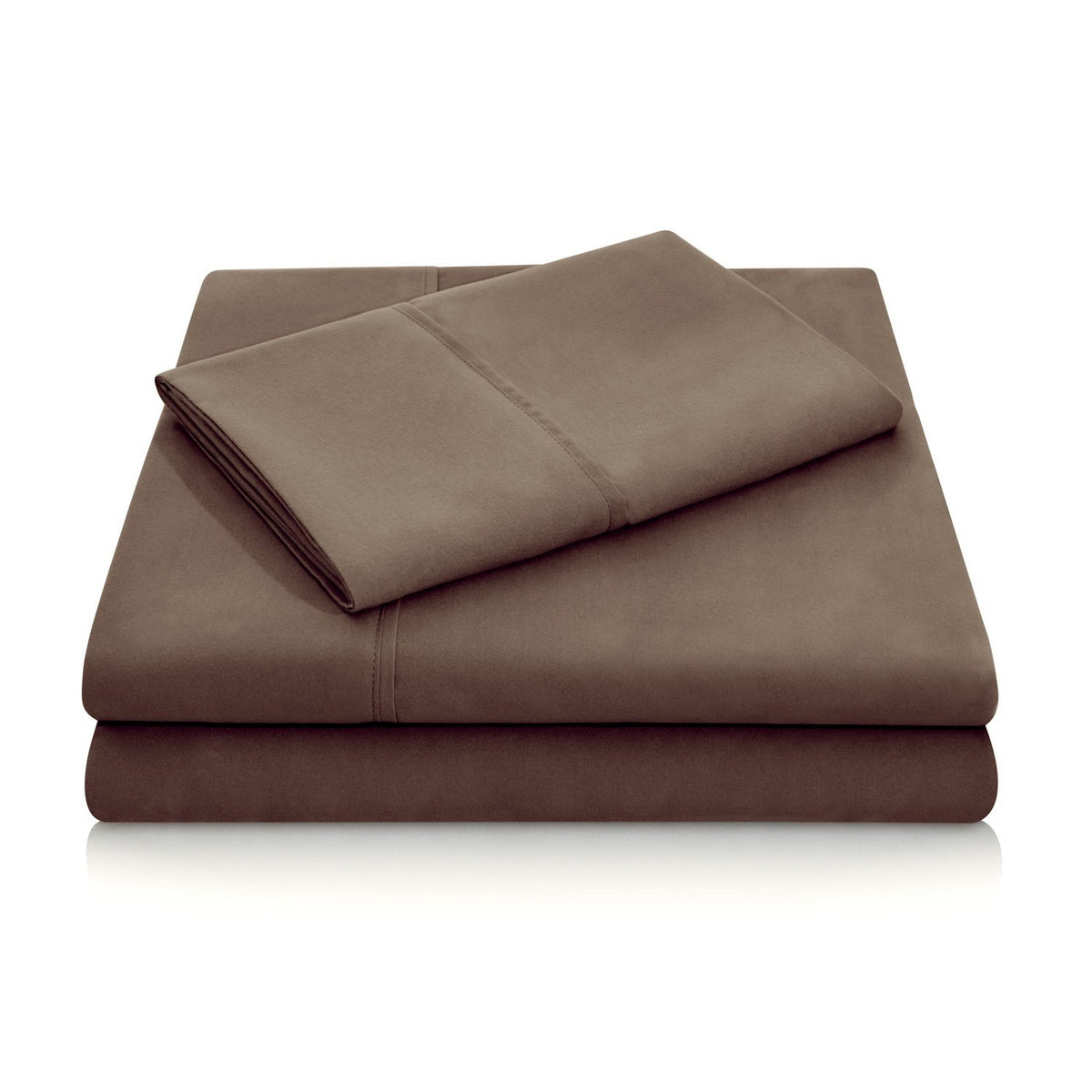 WOVEN Brushed Microfiber Sheet Set Sheet Set Malouf Twin Chocolate