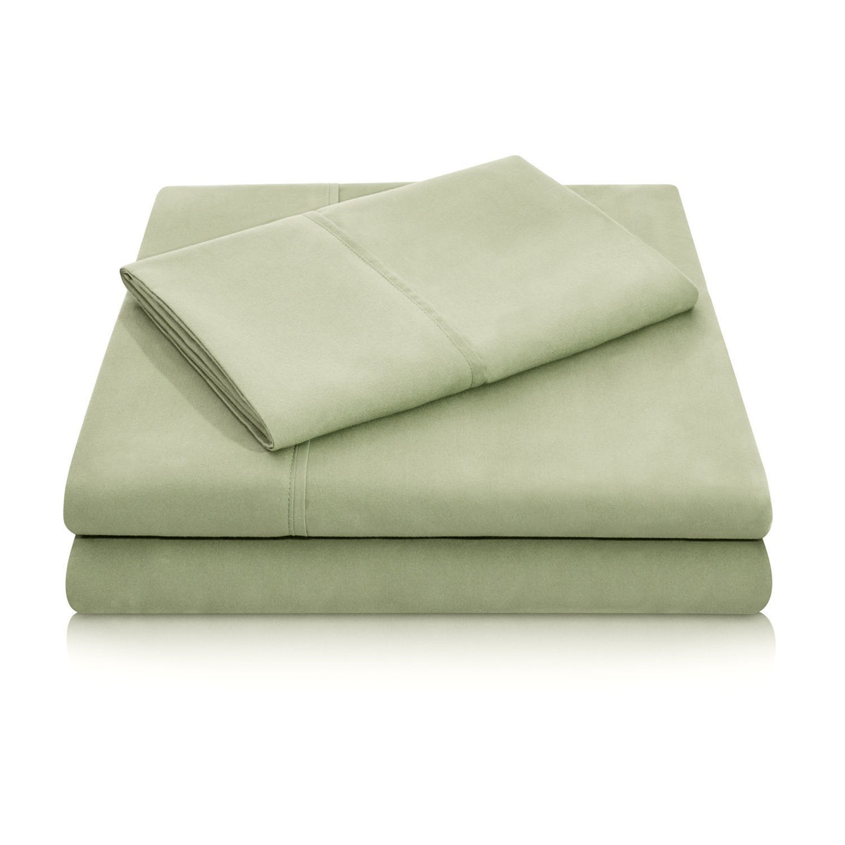 WOVEN Brushed Microfiber Sheet Set Sheet Set Malouf Twin Fern