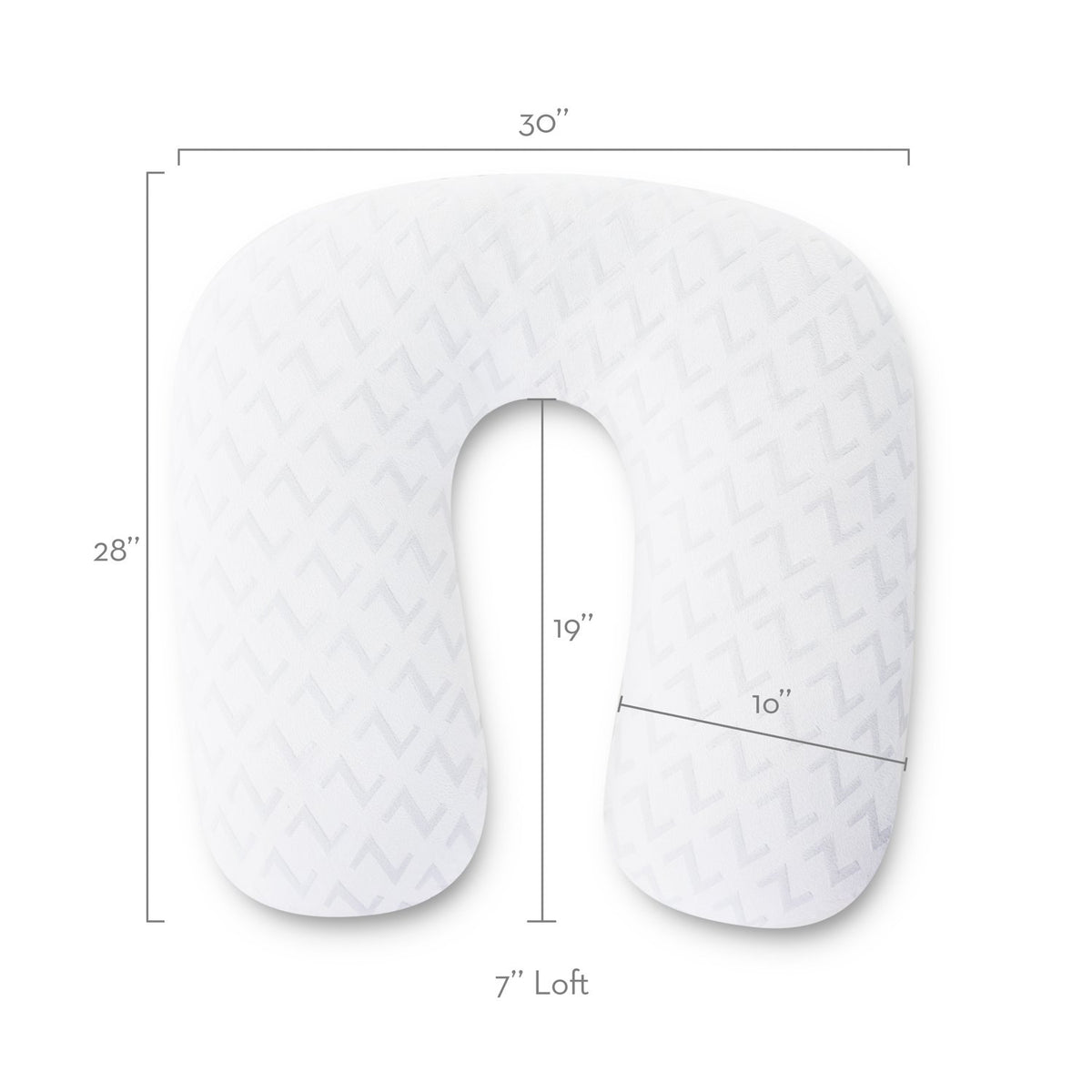 Horseshoe Pregnancy Pillow Pillow Malouf