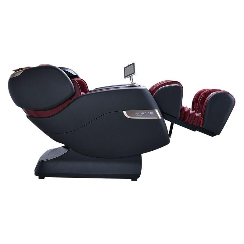 JPMedics Kumo Massage Chair Black /Red Side Reclined View