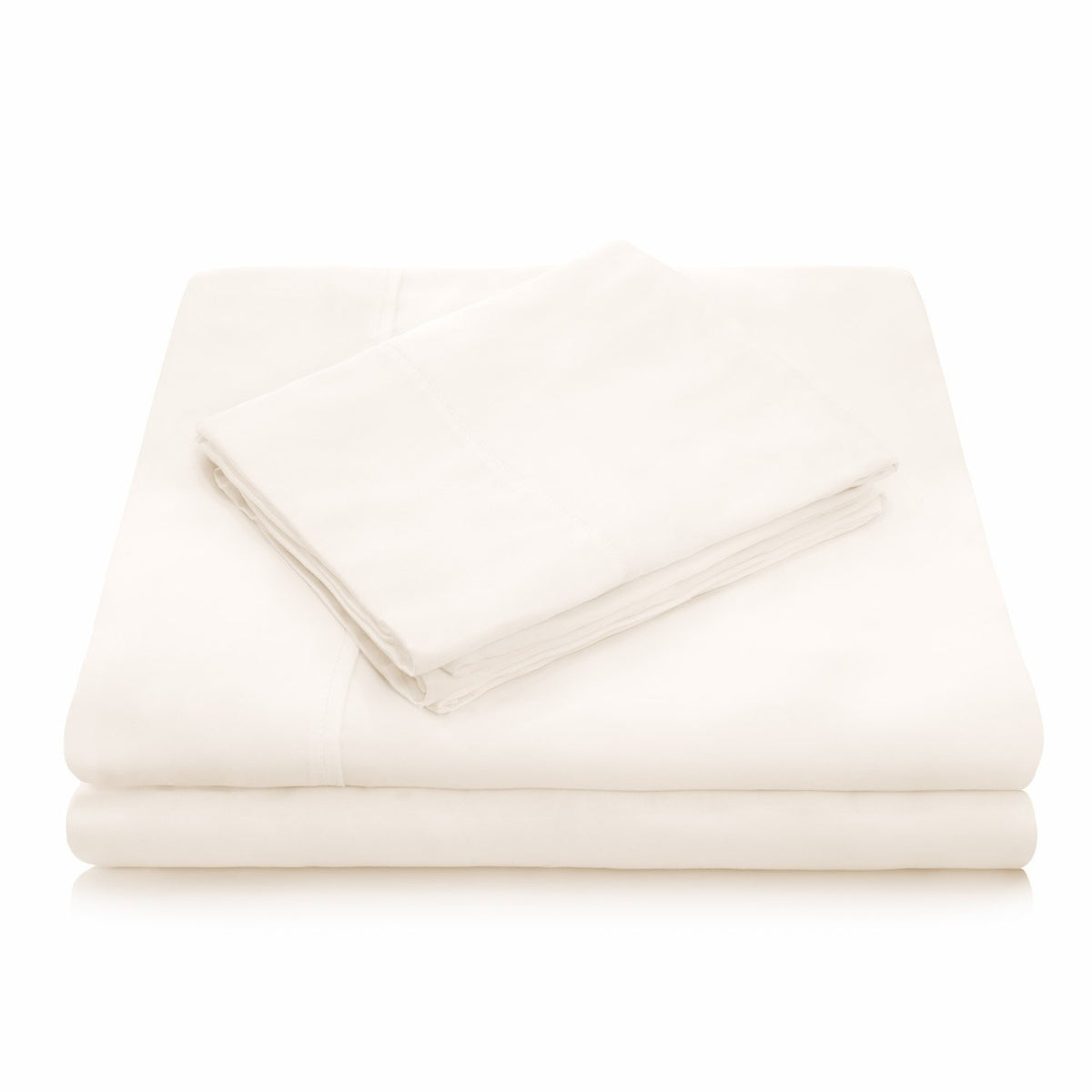 WOVEN TENCEL™ Sheet Set Sheet Set Malouf Twin Ivory