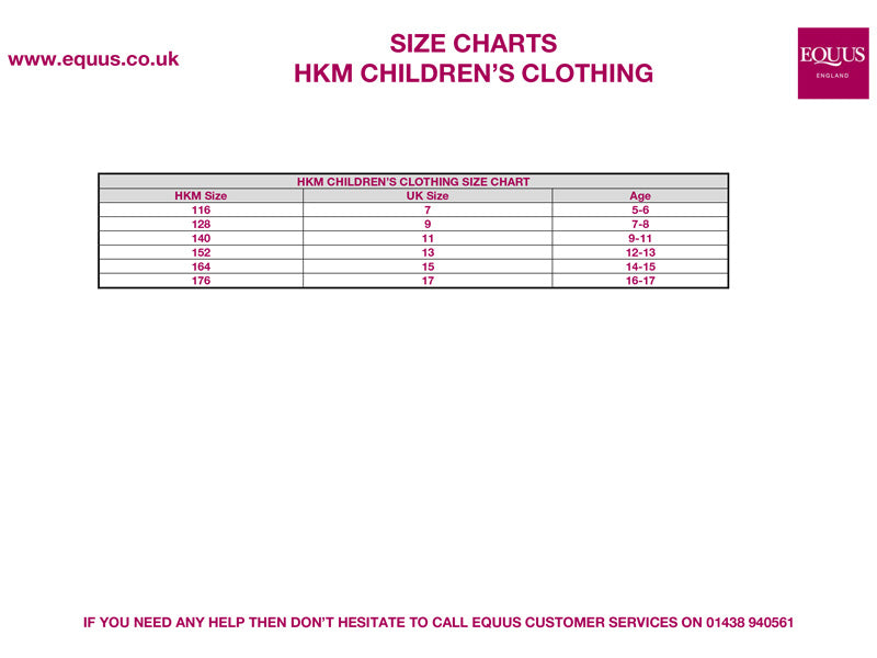 HKM Childrens Equestrian Clothing Guide