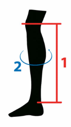 HKM Chaps Size Guide Measurement Aid