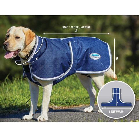 Weatherbeeta Parka 1200D Deluxe Dog Coat Size Guide