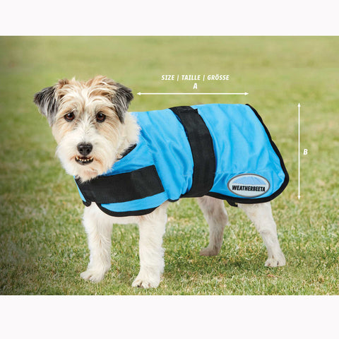 Weatherbeeta Therapy-Tec Cooling Dog Coat Size Guide Image