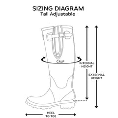 Rockfish Tall Adjustable Wellington Boots Diagram