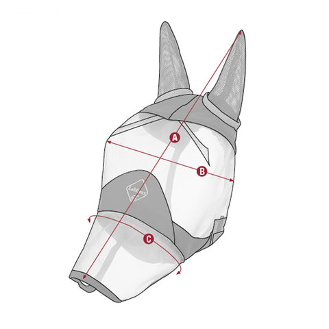 LeMieux Armour Shield Fly Protector Full Mask With Ears And Nose