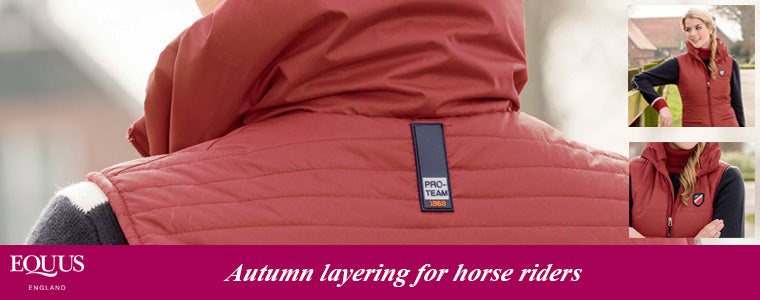 how to layer clothing for horse riding