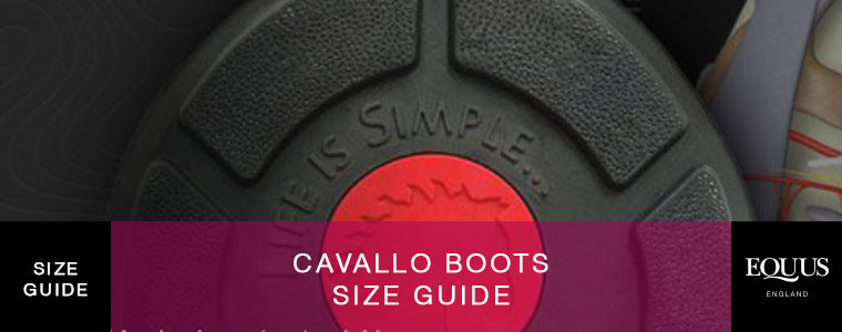 Cavallo Boots Size Guide Header