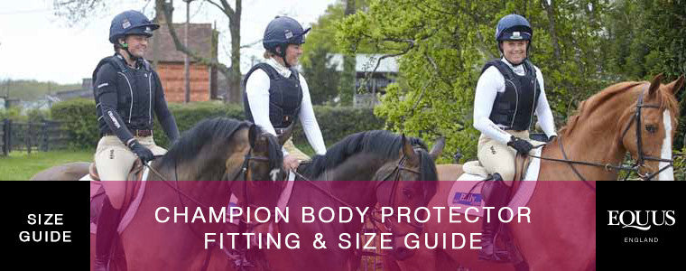 Champion Body Protector Size Guide