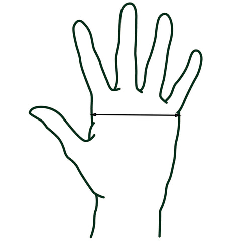 Dublin Equestrian Riding Gloves Size Chart Diagram