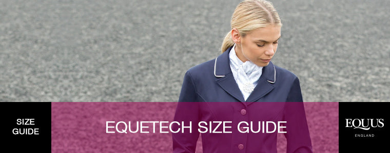 Equetech Size Guide