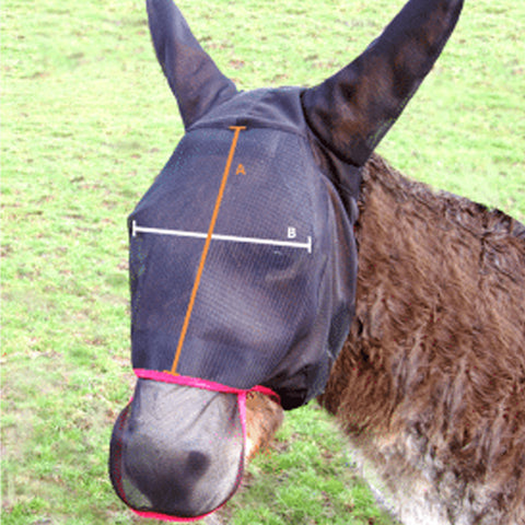 Equilibrium Donkey Field Relief Max Fly Mask Size Guide Image