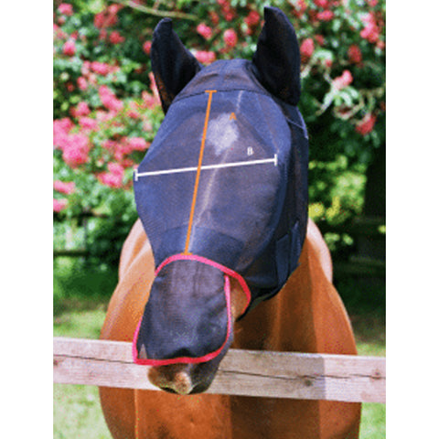 Equilibrium Field Relief Max Fly Mask Size Guide Image