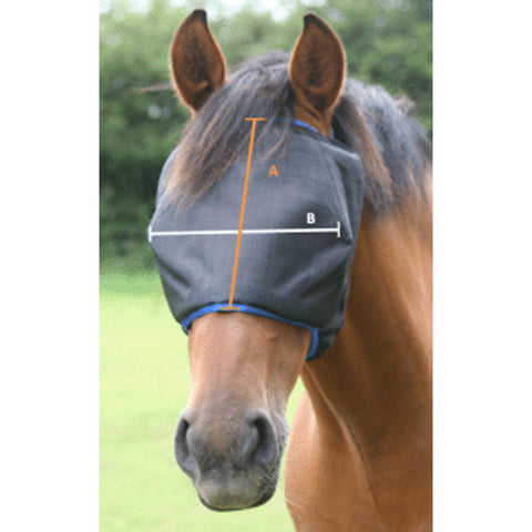 Equilibrium Field Relief Midi Fly Mask Without Ears Size Guide Image
