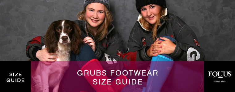 Grubs Footwear Size Guide