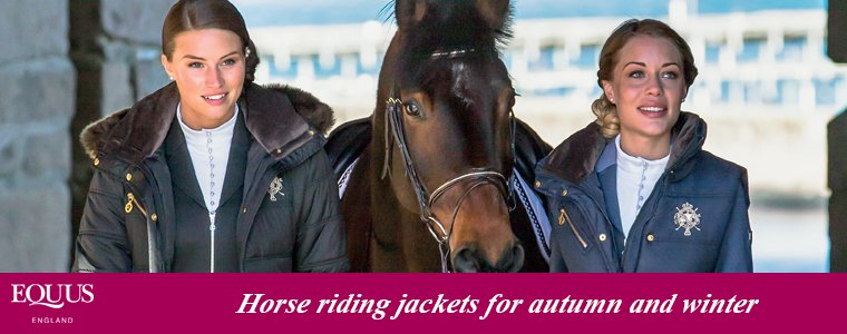 Horse riding jackets for autumn and winter