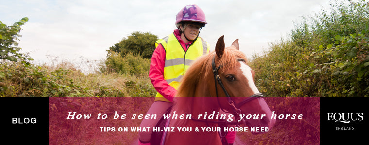 How to be seen when riding your horse