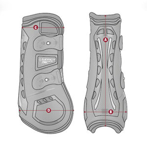 LeMieux Impact Responsive Tendon Boot Size Guide