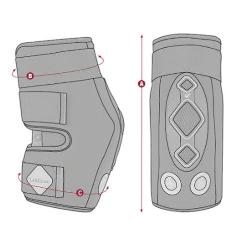 LeMieux Conductive Magnotherapy Hock Boots Size Guide