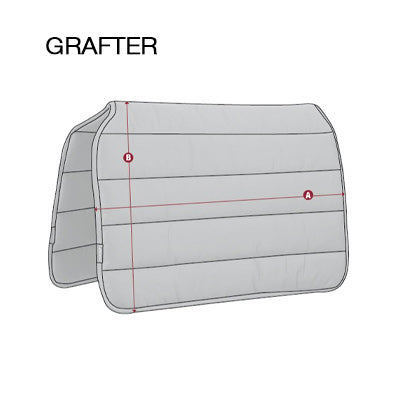 LeMieux Grafter Work Pad Size Guide Image