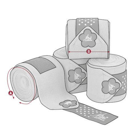 Mini LeMieux Polo Bandages Size Guide Image