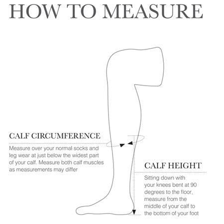 Hy Equestrian Footwear Size Guide Calf Measurement