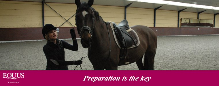 Preparing for a dressage test
