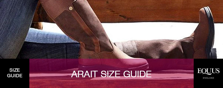 Ariat size guide
