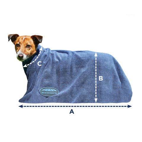 Weatherbeeta Dry-Dog Bag Size Guide