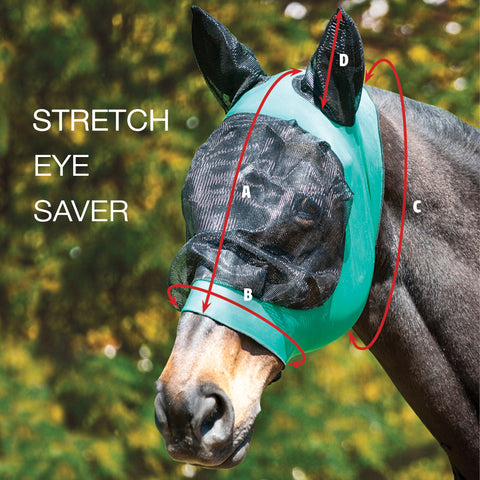 Weatherbeeta Stretch Eye Saver Fly Masks Size Guide Image