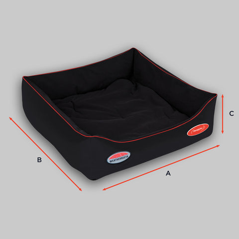 Weatherbeeta Therapy-Tec Dog Bed Size Guide Image