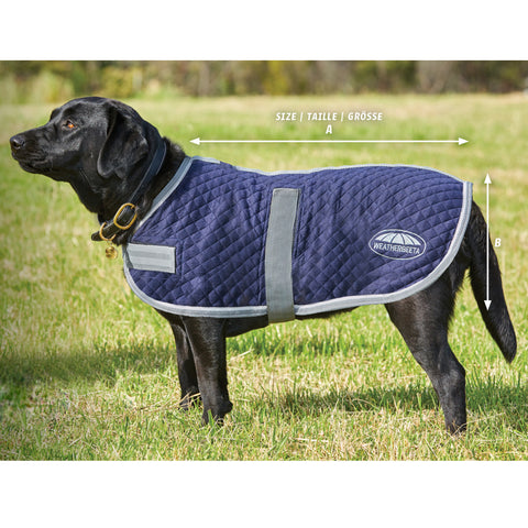 Weatherbeeta Thermic Dog Coat Size Guide Image