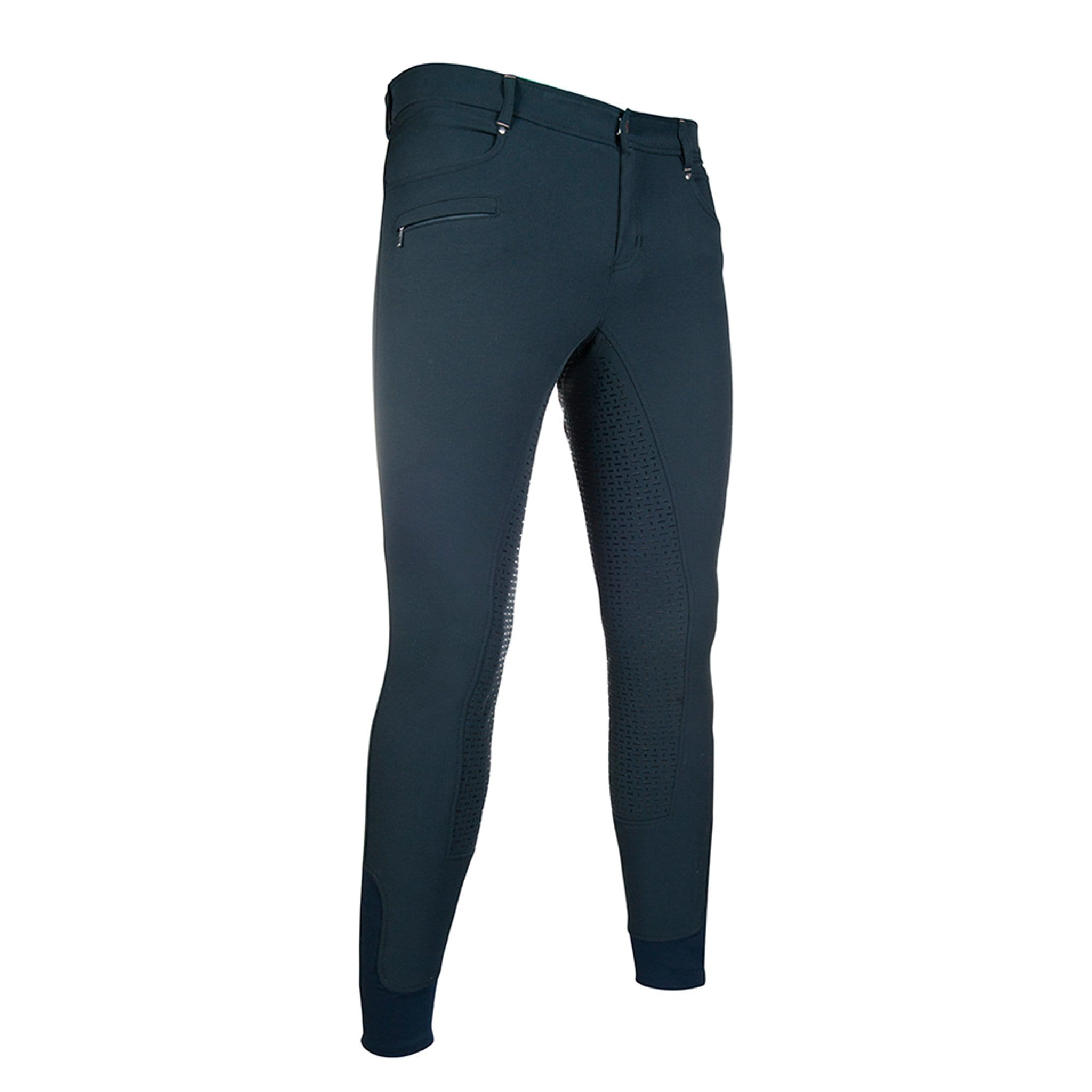10904 HKM Men's San Lorenzo Silicone Full Seat Breeches Kingston Navy Graphite