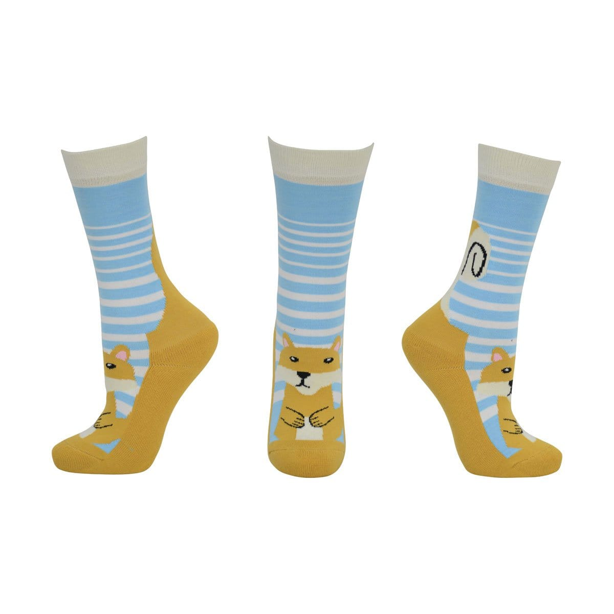 HyFASHION Children's Mr Foxy 2 Pack Riding Socks Blue.