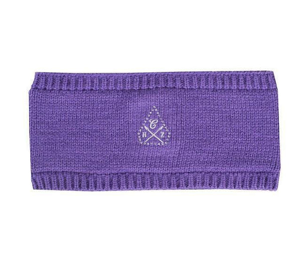 Horze Knitted Headband - One Size / Purple | EQUUS