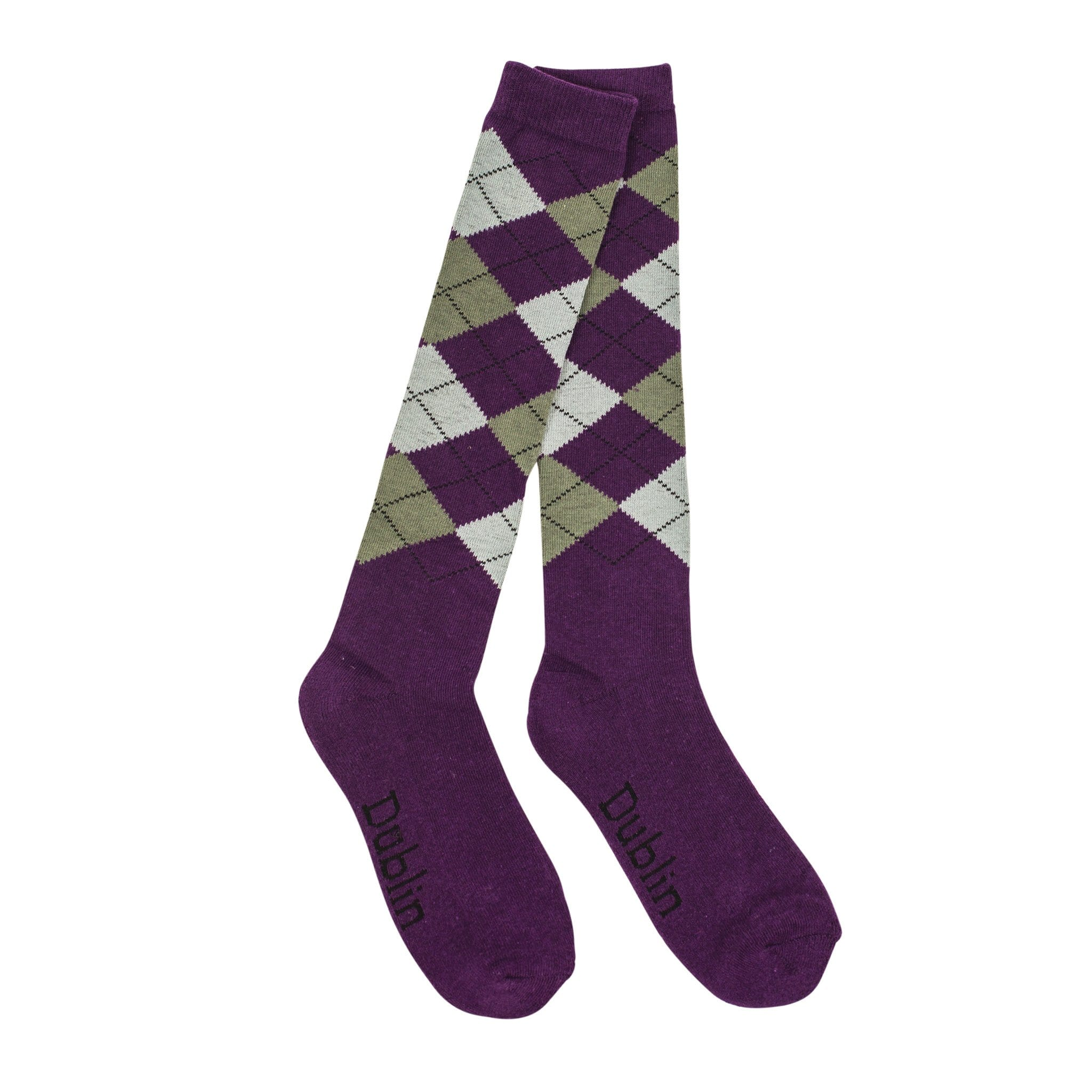 Dublin Argyle Riding  Socks Purple