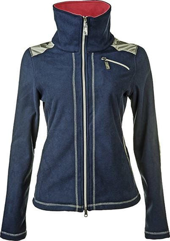 HKM Cavallino Marino Verona Ladies Double Fleece Jacket in Navy Front View
