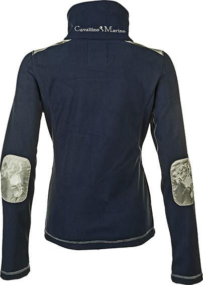 HKM Cavallino Marino Verona Ladies Double Fleece Jacket in Navy Rear View