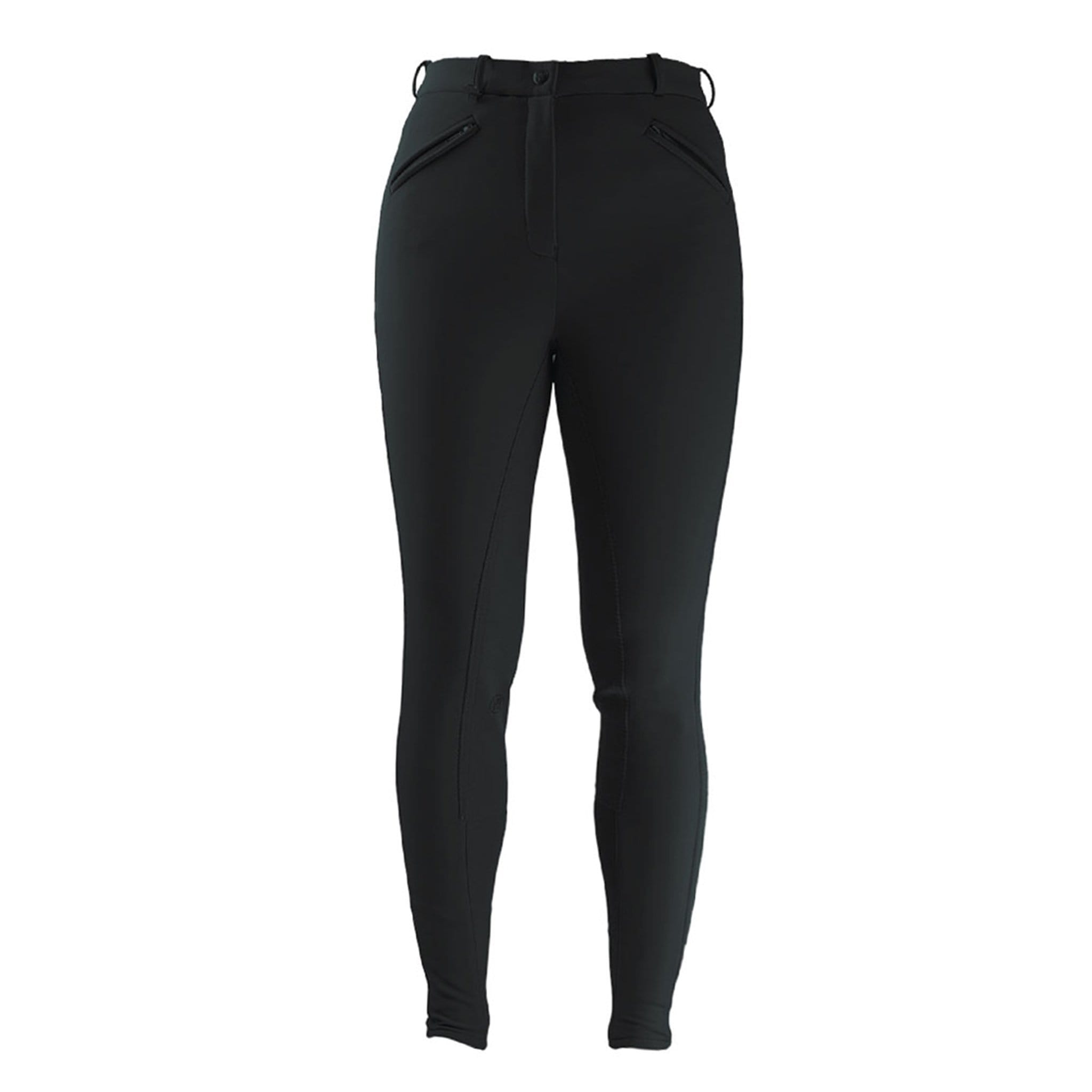 HyPerformance Winter Softshell Alos Full Seat Breeches Black Front 4138