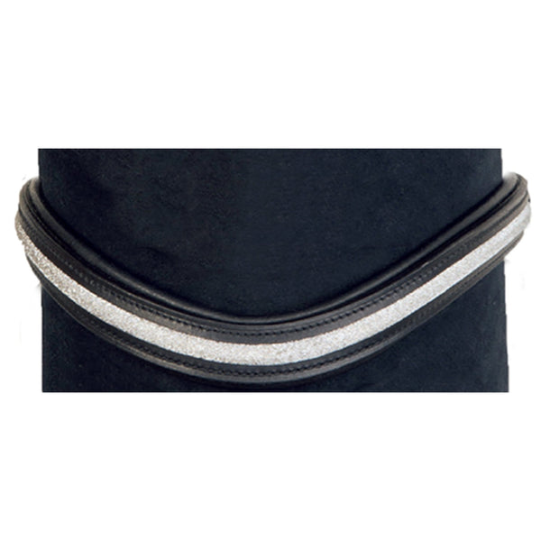 HKM Glitzer Browband in Black and Silver 4413