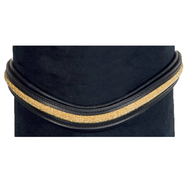 HKM Glitzer Browband in Black and Gold 4413