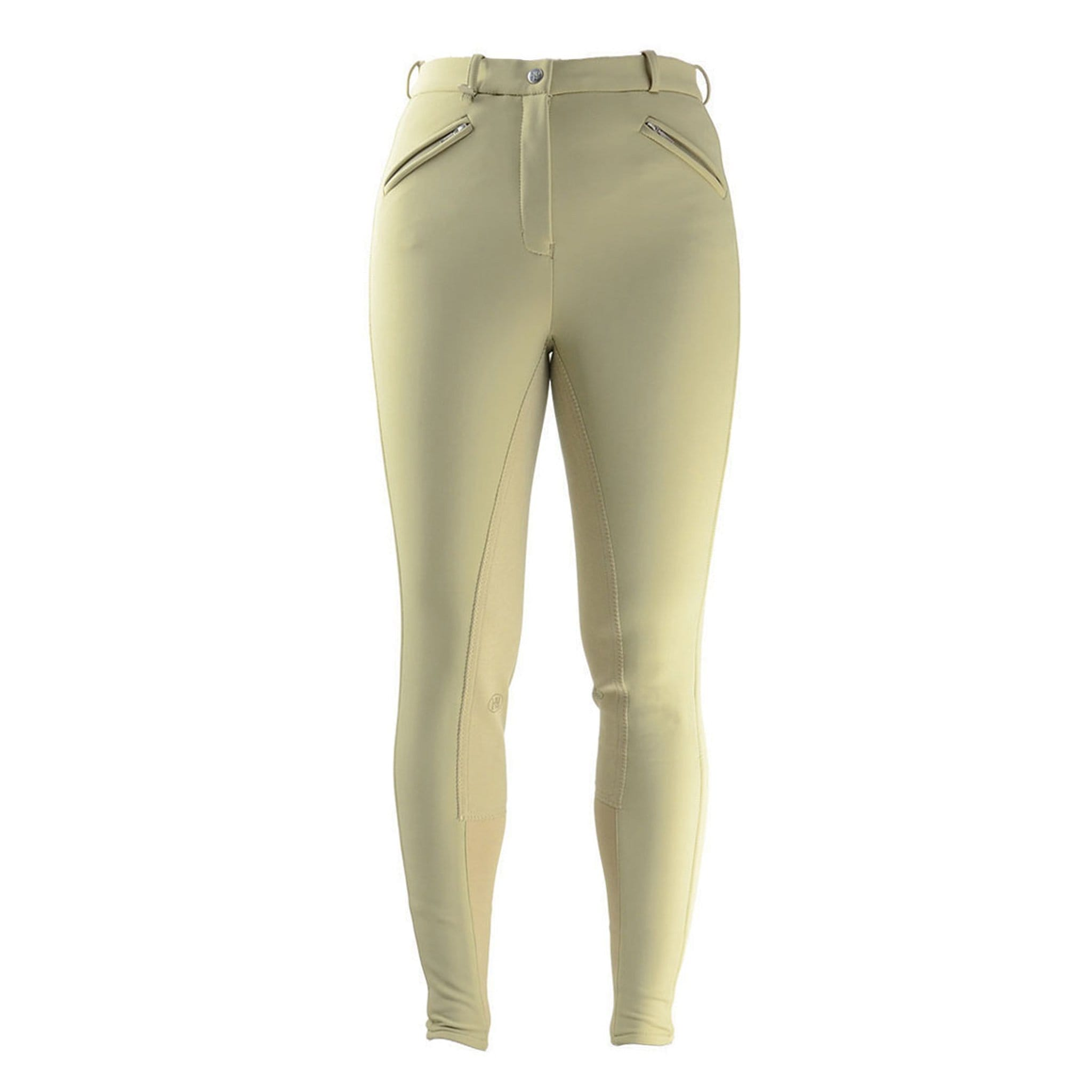 HyPerformance Winter Softshell Alos Full Seat Breeches Beige Front 4570