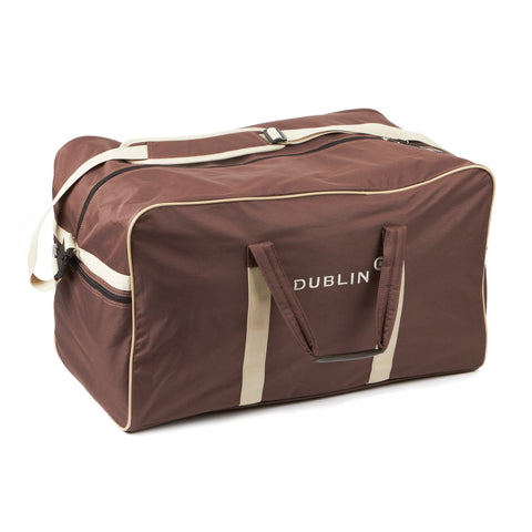 576262 Dublin Imperial Holdall Bag in Chocolate with Cream